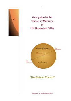 Thumbnail of the front page of the Guide to the Transit of Mercury