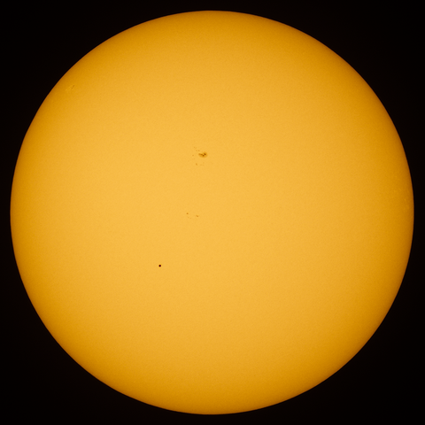Mercury in front of the solar disk